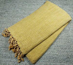 mOrganics Beauty - Stonewashed Luxury Hamam Peshtemal & Towel - Mustard 90x170cm