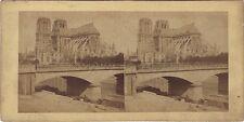 Nôtre-Dame de Paris Stéréo Stereoview Vintage albumine ca 1855