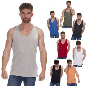 Men's Open Back Y Vest Sleeveless Tank Top Summer Muscle Shirt Exercise Gym New