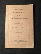 C L CUSHMAN / Articles of Faith and Covenant of the First Congregational 1st ed