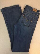 Levis Designer Pocket Wide Flare Boot Cut Jeans - Medium Wash - Size 7M