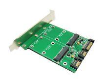 SINTECH Dual mSATA SSD to Dual SATA 3 card with bracket