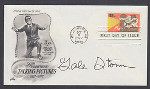 Gale Storm, American television actress, signed Talking Pictures FDC