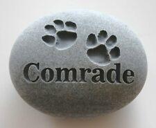 Paw Prints Pet Memorial Custom Engraved Memorial Stone Pet Loss Personalized