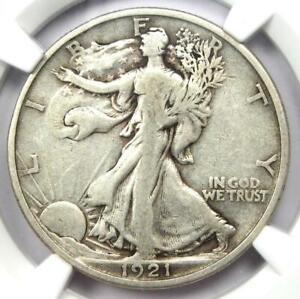 1921-D Walking Liberty Half Dollar 50C - Certified NGC VF Details - Rare Date!