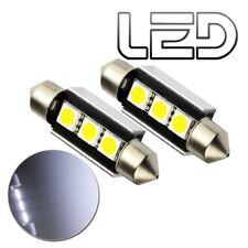 2 Ampoules navette LED Blanc C7W 39 mm 39mm Resistances Anti Erreur ODB Plaque