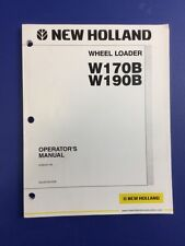 New Holland W170B, W190B Wheel Loader Operators Manual