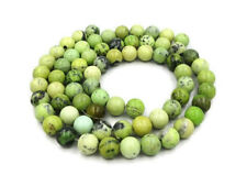 Genuine & Natural Green Chrysotine 12mm Round Semi Precious Gemstone Beads x 34