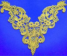 Reyson Beautiful Large Vintage Dusted Gold Metallic Venice/venise Lace Yoke Trim