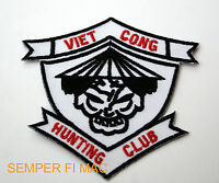 VIET CONG HUNTING CLUB VIETNAM HAT PATCH US MARINES ARMY NAVY AIR FORCE POW MIA