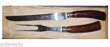 SHEFFIELD ENGLAND OLDE ENGLISH IMPORTED DELUXE STAINLESS STEEL CARVING SET KNIFE