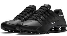 New NIKE Shox NZ Premium Running Shoes Mens black white black all sizes 572099ec1