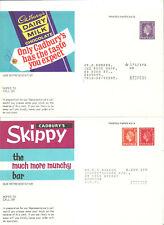 QEII 3D, 21/2D + 1/2D DIES CADBURYS DAIRY MILK/SKIPPY CHOCOLATE ORDER FORM CARDS