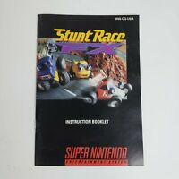 Stunt Race FX (Super Nintendo, SNES) MANUAL Only Good