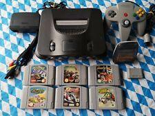 Nintendo 64 , 6 Spiele, Controller, alle Kabel, Memory Card, Transfer Pak N64