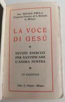 Libro La voce di Gesù Terza Edizione 1927 Libri Chiesa Fede cristiana Preghiere