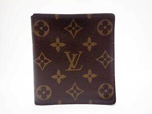 Authentic LOUIS VUITTON Monogram Wallet Bi-fold Billets 10 Credit M60883 Men's