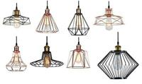 Vintage Metal Cage Industrial Wire Frame Pendant Light Loft Ceiling Lamp Shade