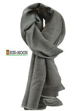 100% Pashmina Gray Cashmere Scarf Wrap Shawl Grey Mens Cashmere Scarf Women Wrap