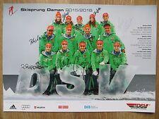 Handsignierte AK Autogrammkarte *SKISPRUNG DAMEN DEUTSCHLAND* Saison 2015/2016