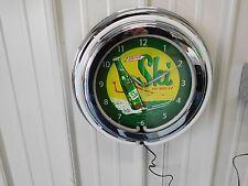 SKI SODA SIGN CLOCK NEON
