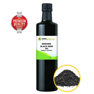 Certified Organic Black Seed Oil Nigella Sativa Black Cold Pressed Glass Bottle