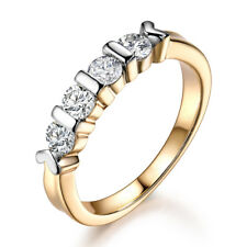 Fashion 4-Stone Diamond Sapphire Silver & Gold Filled Women Wedding Finger Rings