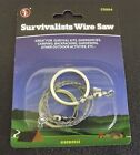 """New Camping Hiking Emergency Survival Saw 27-1/2"""" Survivalists Wire Saw"""