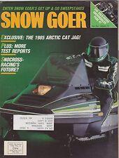 DEC 1984 SNOW GOER snowmobile magazine