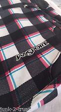 JanSport Womens Messenger Bag - Pink, Blue and Green Plaid