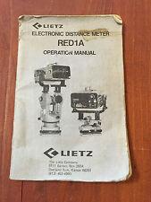 LEITZ RED1A EDM OPERATION MANUAL SURVEYING