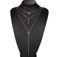 Fashion Statement Bib Pendant Necklace Chain Charm Jewelry Crystal Choker Chunky
