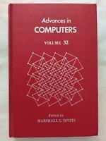 BOOK ADVANCES IN COMPUTERS VOLUME 32 MARSHALL C. YOVITS 0120121328 1994