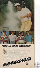 1977 Print Ad of Munsingwear Grand Slam Golfwear with golfer Dave Stockton