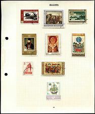 BULGARIA pagina di album di francobolli #V4615