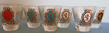 Set of 6 Liquor glasses with emblem