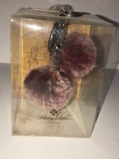 "PATRICIA NASH Sherpa Sheepskin Key Chain FOB""BERRY RED""NWT Box Seal Great 4 Gift"