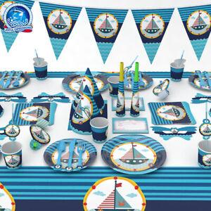 Nautical sailor Theme Party Supplies Birthday Ship sea Napkins Plates Cups Decor