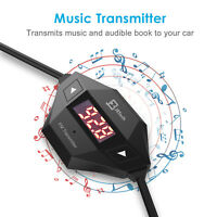 Premium Wireless FM Transmitter Radio Car Kit with Audio Plug & Car Charger