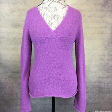 Sz S - Eileen Fisher Women's Knit V-neck Sweater Long Sleeve Purple