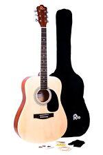 Rio Acoustic Guitar Starter Package 41'' Folk Dreadnought Steel String
