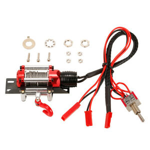 Metal Steel Wired Automatic Simulated Winch w/Switch For RC Rock Crawler S2C4