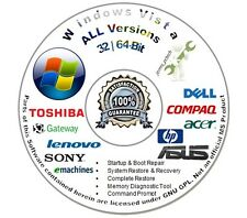 Windows Vista 32 & 64-Bit Install Boot Repair Recovery DVD Disc Home Prem Basic