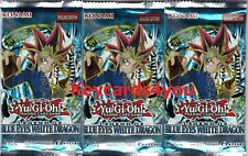 YUGIOH  3 X BLUE EYES WHITE DRAGON BOOSTER PACKETS  LC01 *NOT SCALED*