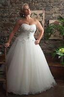 Plus Size White/Ivory Wedding Dress Bridal Gown Custom 12 14 16 18 20 22 24++++