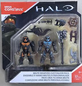 Mega Construx DXR57 Halo Brute Weapons Customizer Pack PLUS EXTRA BONUS FIGURE!!