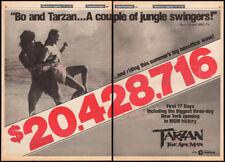 TARZAN The Ape Man__Orig. 1981 Trade AD promo / poster__BO DEREK__MILES O'KEEFFE