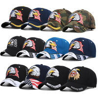 Baseball Cap Patriotic American Flag Eagle Design Snapback Hat USA 3D Embroidery