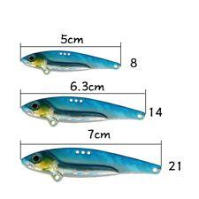 5pcs Metal Blade Fishing Lures 8/14/20g Hard VIB Bait Crankbait Fishing Tackle