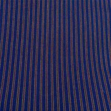 Premium Shirting Stripe, Navy Olive & Red, Cotton Blend Fabric,